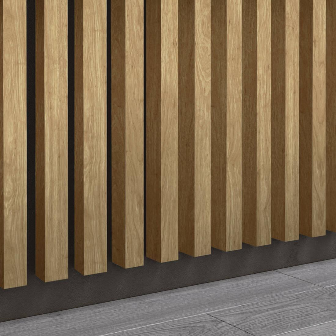 Dąb Naturalny Santana - Lamele Premium 3D - Panele ozdobne ścienne akustyczne pionowe