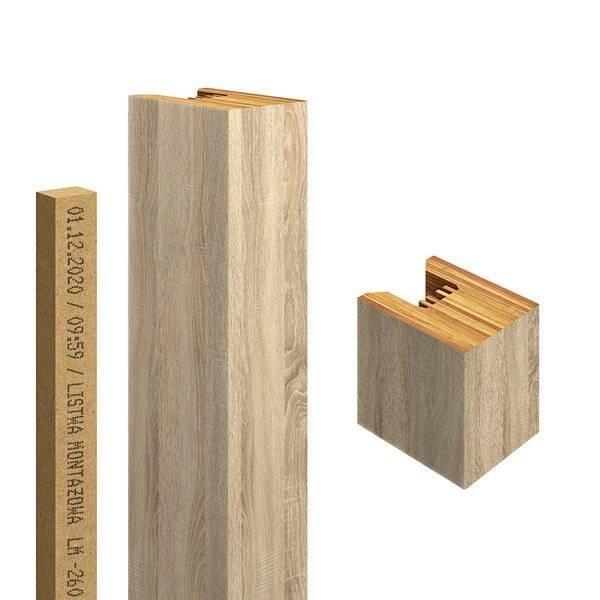 Jesion Capri - Lamele Premium 3D - Panele ozdobne ścienne akustyczne pionowe